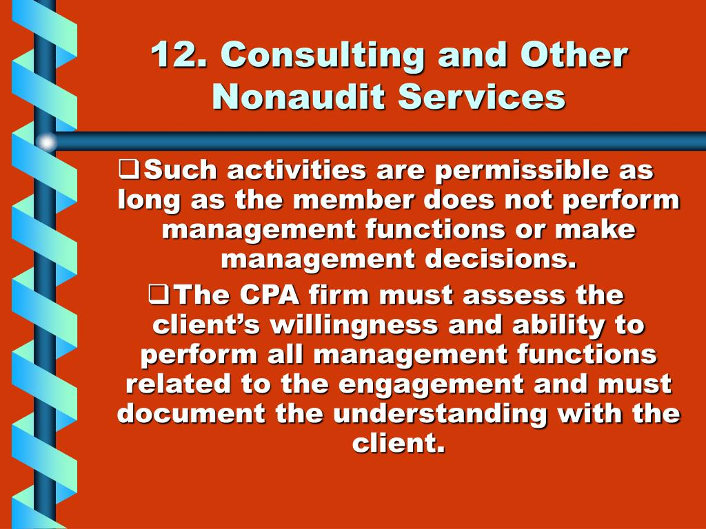 12. Consulting and Other Nonaudit Services