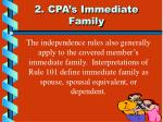2 cpa s immediate family