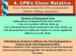 4 cpa s close relative