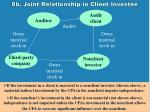 8b joint relationship in client investee