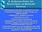 a sarbanes oxley act restrictions on nonaudit services
