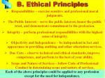 b ethical principles