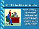 b the audit committee