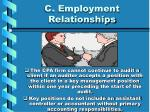 c employment relationships