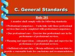 c general standards