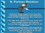d partner rotation