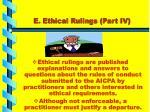 e ethical rulings part iv