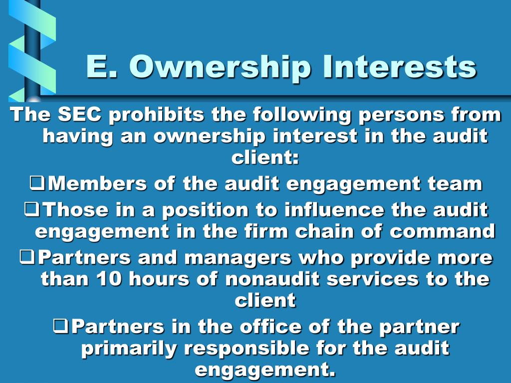E. Ownership Interests