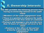 e ownership interests
