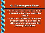 g contingent fees