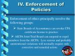iv enforcement of policies