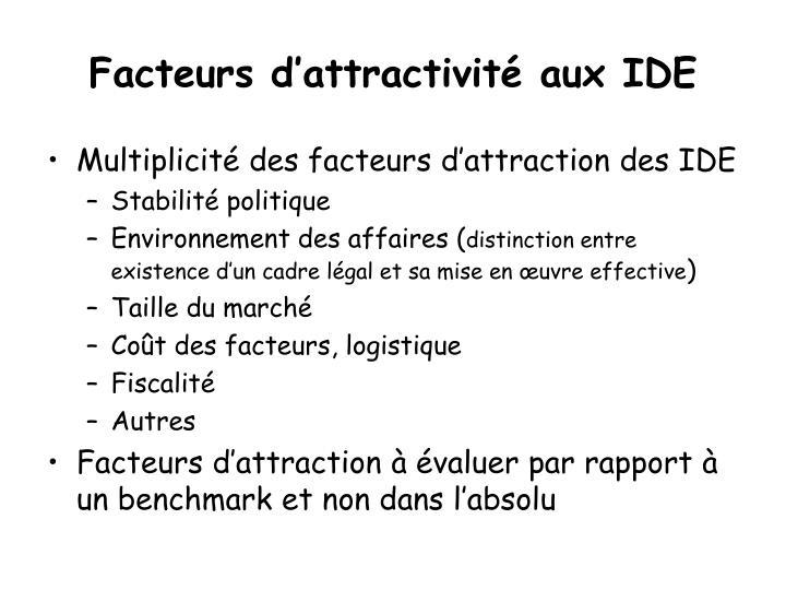 Facteurs d attractivit aux ide