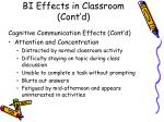 bi effects in classroom cont d