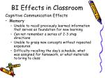 bi effects in classroom
