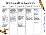 brain growth and maturity