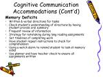 cognitive communication accommodations cont d