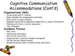 cognitive communication accommodations cont d1