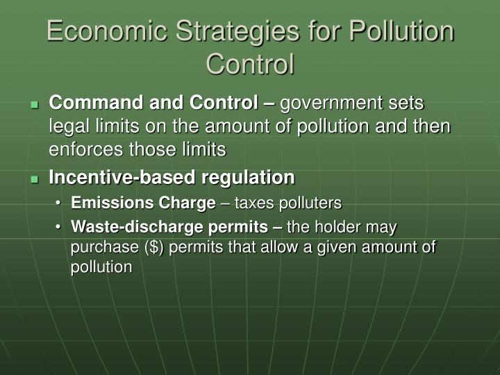 Economic Strategies for Pollution Control