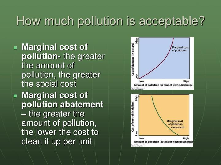 How much pollution is acceptable?