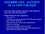 decembre 2004 accident de la voie publique