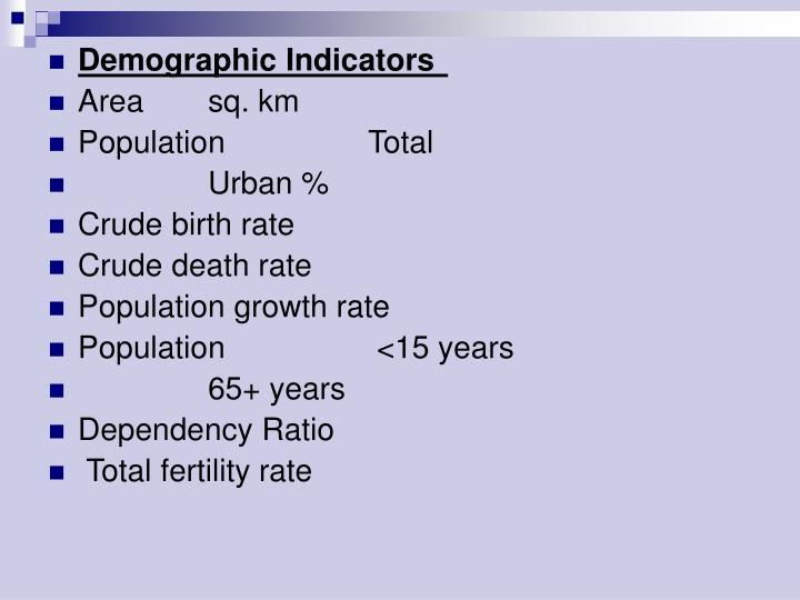 Demographic Indicators