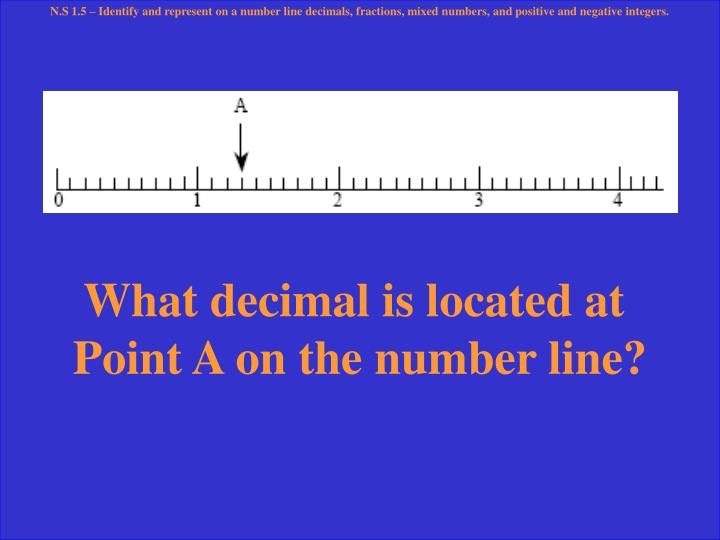 What decimal is located at