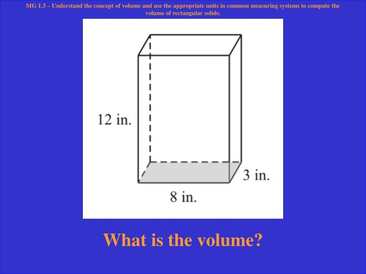 What is the volume?