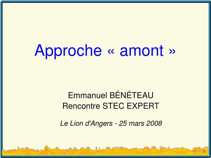 Emmanuel b n teau rencontre stec expert le lion d angers 25 mars 2008