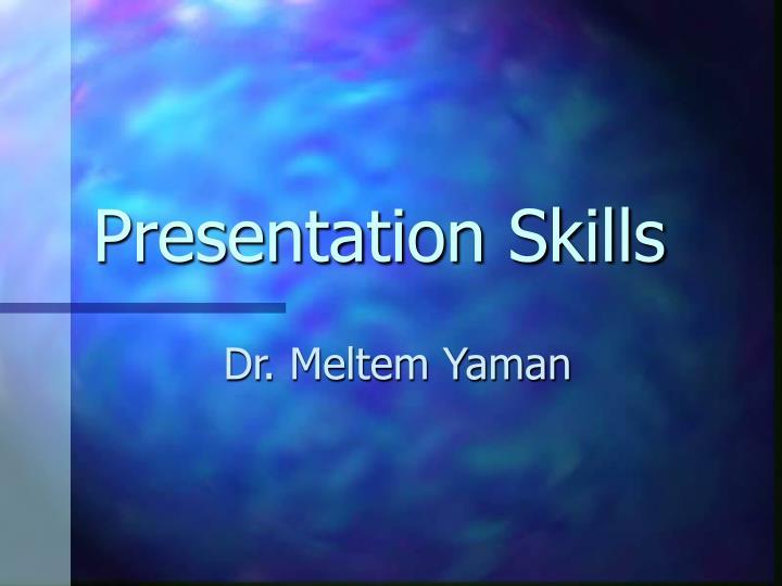 presentation skills n.
