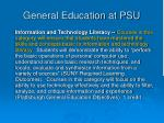 general education at psu