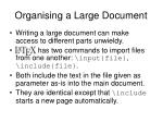 organising a large document