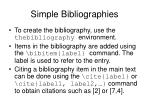 simple bibliographies