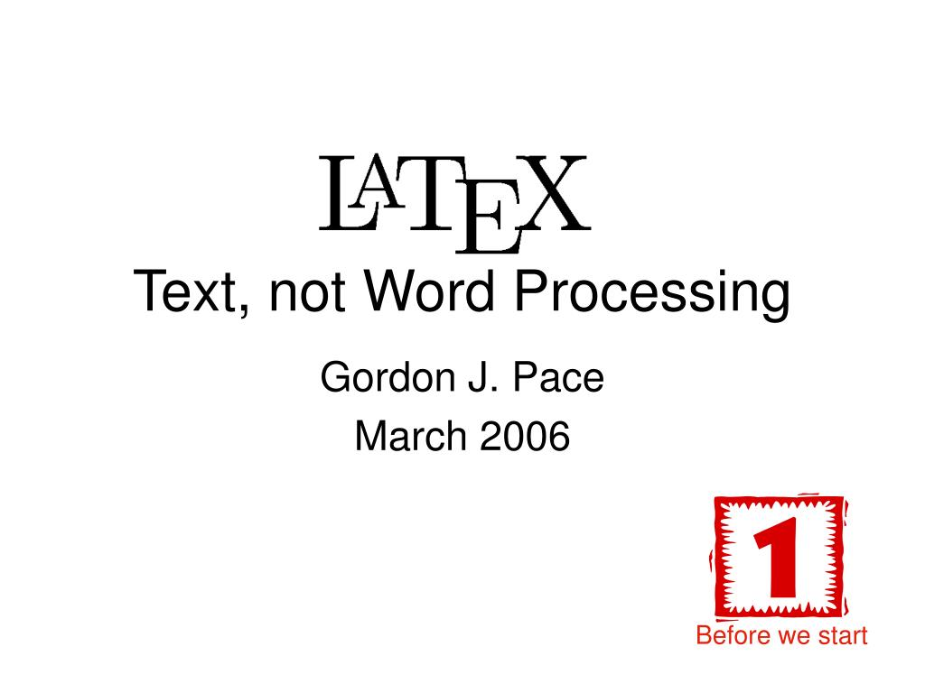 text not word processing l.