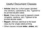useful document classes