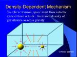 density dependent mechanism
