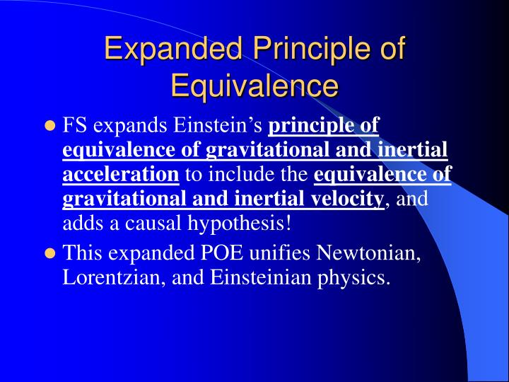 Expanded Principle of Equivalence