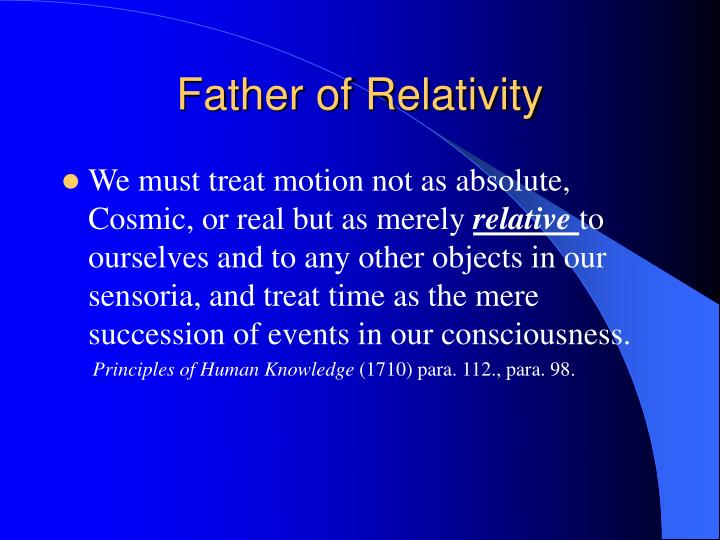 Father of Relativity