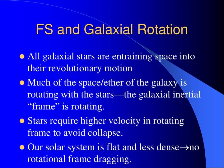 FS and Galaxial Rotation