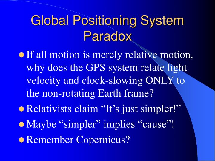 Global Positioning System Paradox