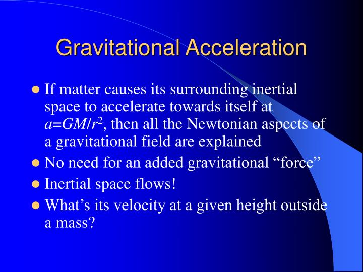 Gravitational Acceleration