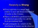 relativity is wrong