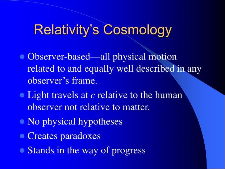 Relativity's Cosmology