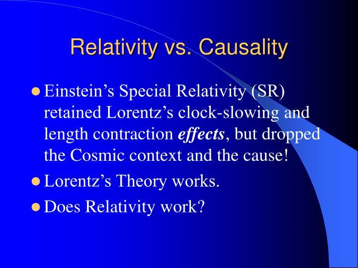 Relativity vs. Causality