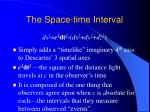 the space time interval