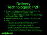delivery technologies p2p