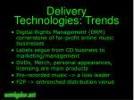delivery technologies trends