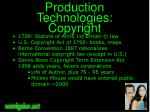 production technologies copyright