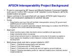afscn interoperability project background