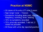 practice at nsmc1