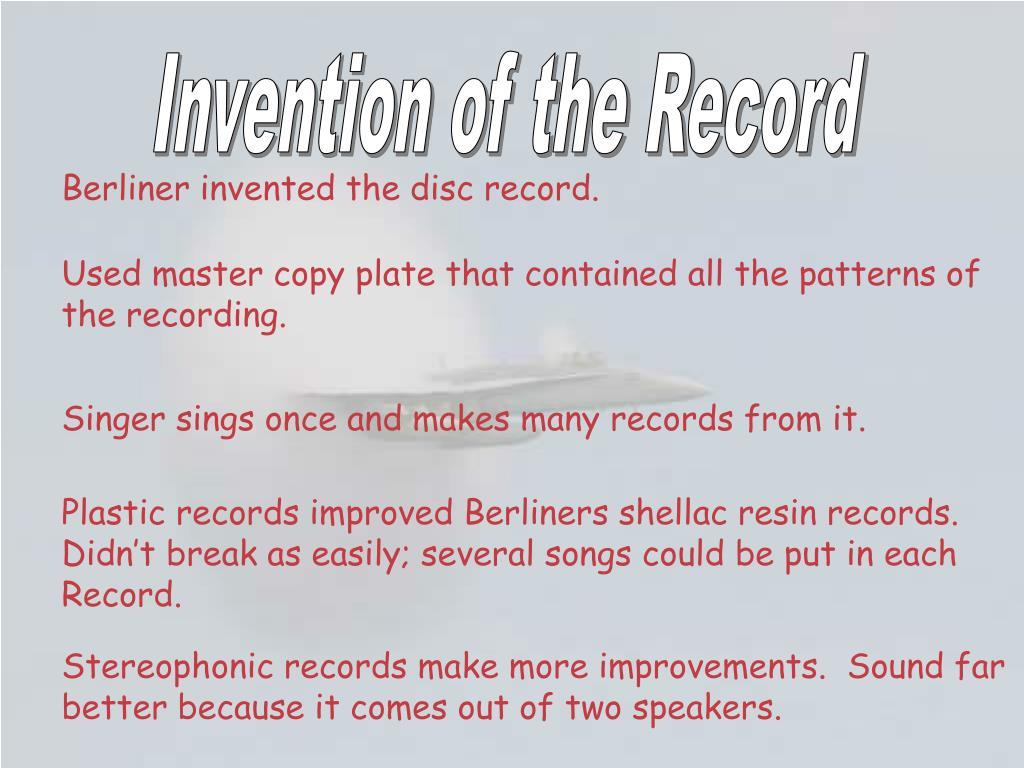 Invention of the Record